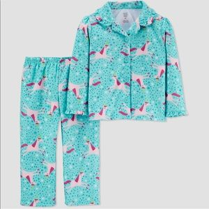 Toddler girl's unicorn coat pajama